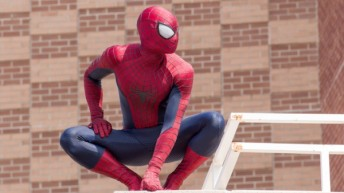 Spiderman swings into Disneyland for Superhero HQ