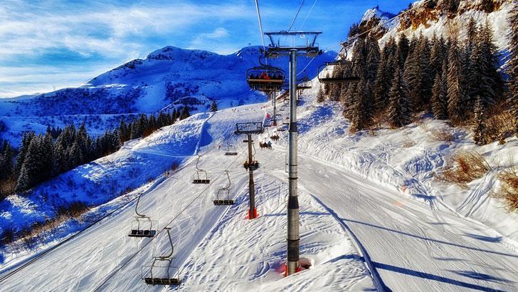 French ski resort