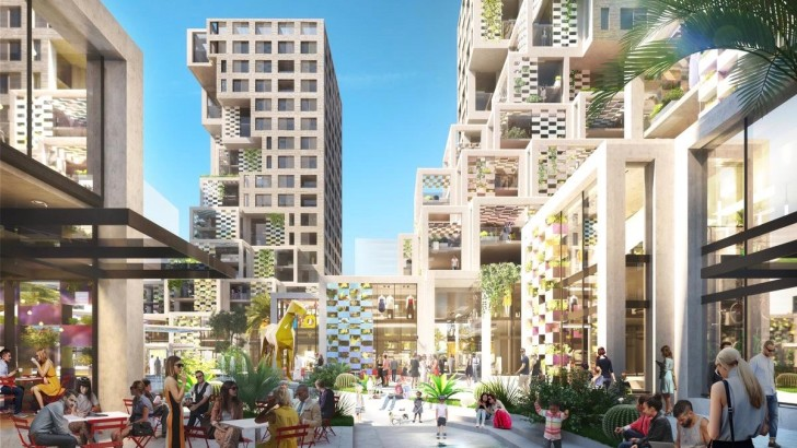 MVRDV and BIG collaborate on lifestyle district and plaza in Abu Dhabi