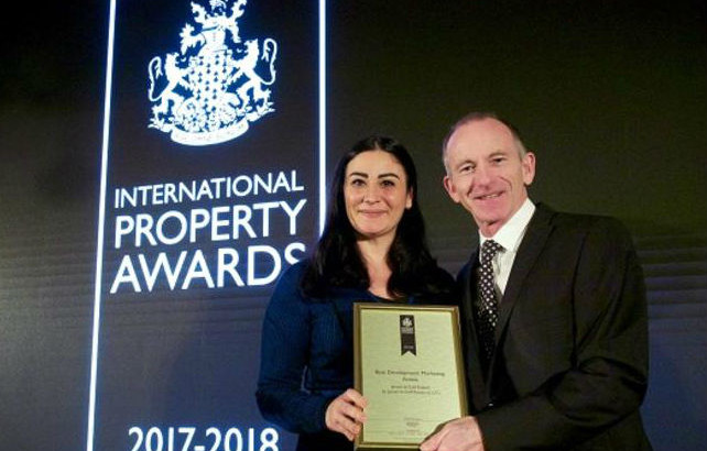 Dubai: major international award for development marketing for Jumeirah Golf Estates