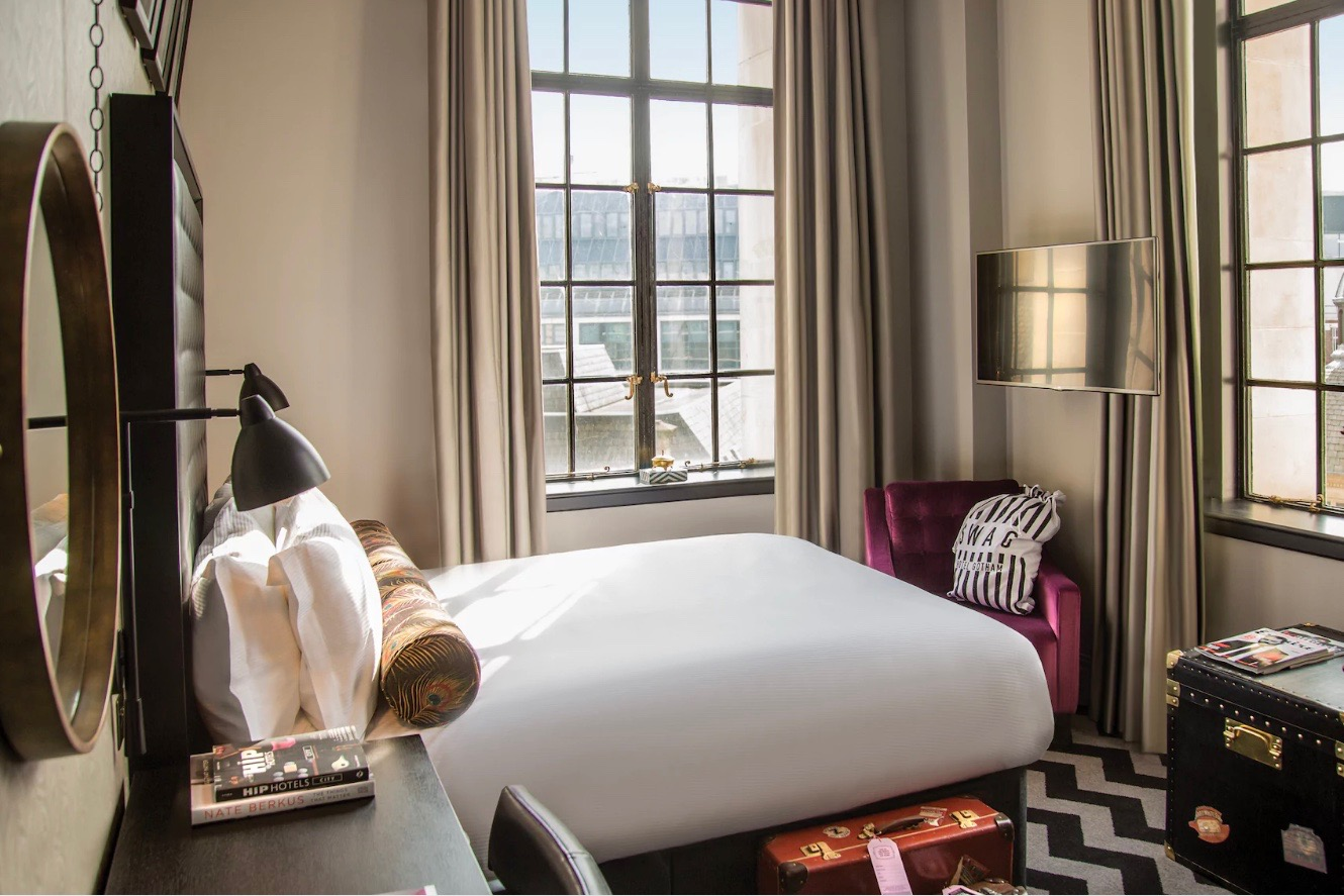 Hotel Gotham made its disabled-access rooms as stylish as any other part of the property