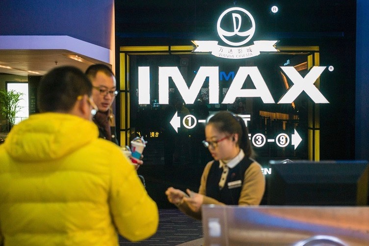 Box office transaction at Chinese Imax cinema