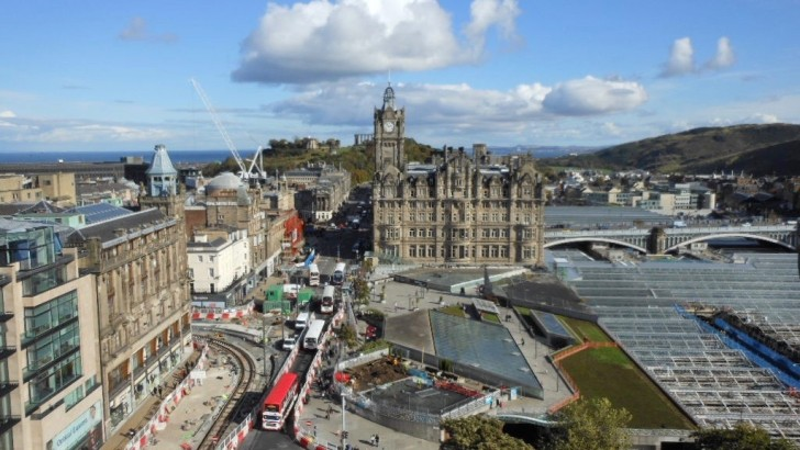 Edinburgh is thriving thanks to new development