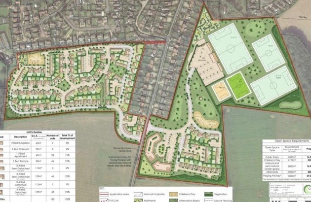 Cromer: proposal for 185 new homes, a sports and leisure park, and care home