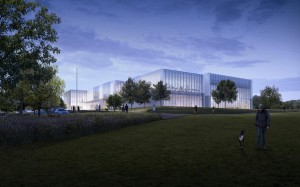 Artist impression of planned leisure centre, Winchester