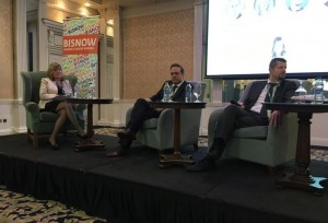 CBRE's Florence Stanley, Harvey Norman's Blaine Callard and Sigma Retail's Marcus Wren