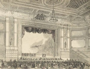 Sketch of Alexandra Palace Theatre in 1875 ©Alexandra Palace