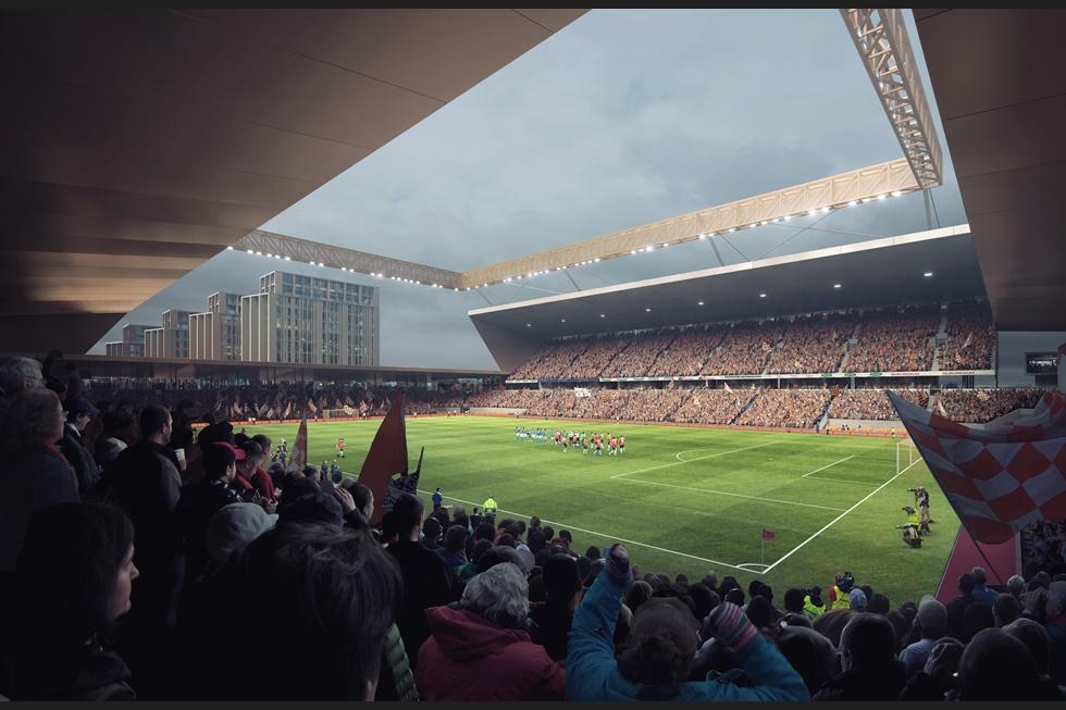 Proposed new Luton Town FC stadium