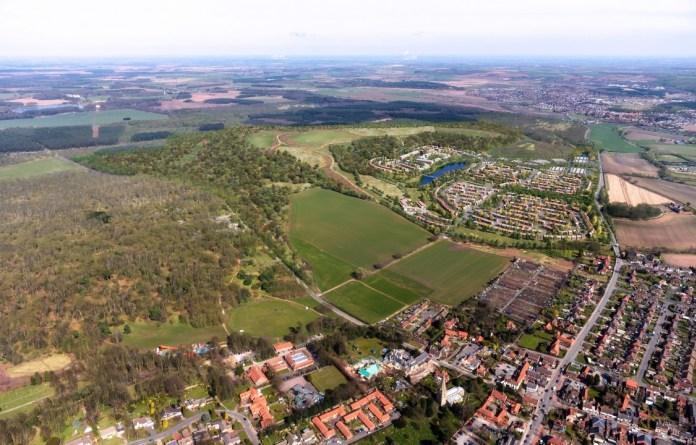 Aerial image of Thoresby (CGI)