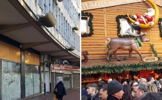 Birmingham is a tale of two cities – buzzing Bullring and battered shops