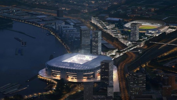 Rotterdam: new designs for 63,000 capacity Feyenoord Stadium revealed