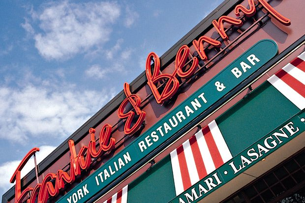 Frankie and Benny signage.