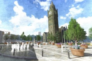 Artist impression of Rochdale scheme by Gillespie's
