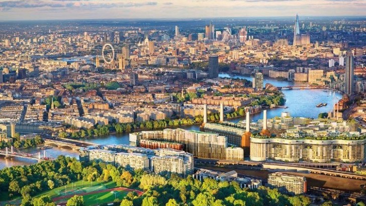 View from the East of Battersea 'powering' a London revival