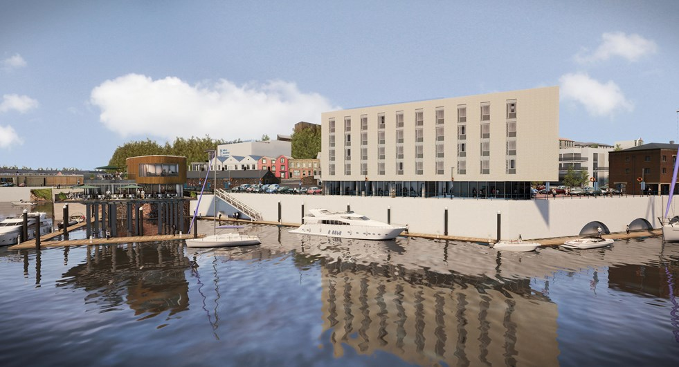 Milford Waterfront – artist impression of hotelq