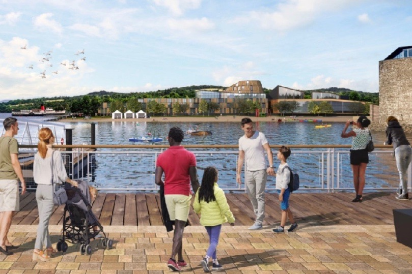 Artist's impressions of the £30 million 'family holiday village' on the edge of Loch Lomond. Picture: PA