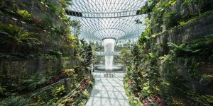 Singapore's new airport features world's tallest indoor waterfall