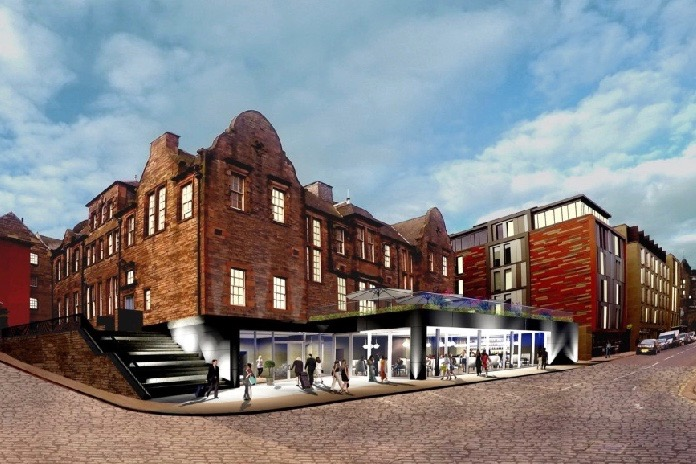 CGI, reimagining Canongate as an hotel