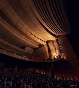 Queensland Performing Arts Centre (QPAC) in Brisbane, Australia – auditorium CGI