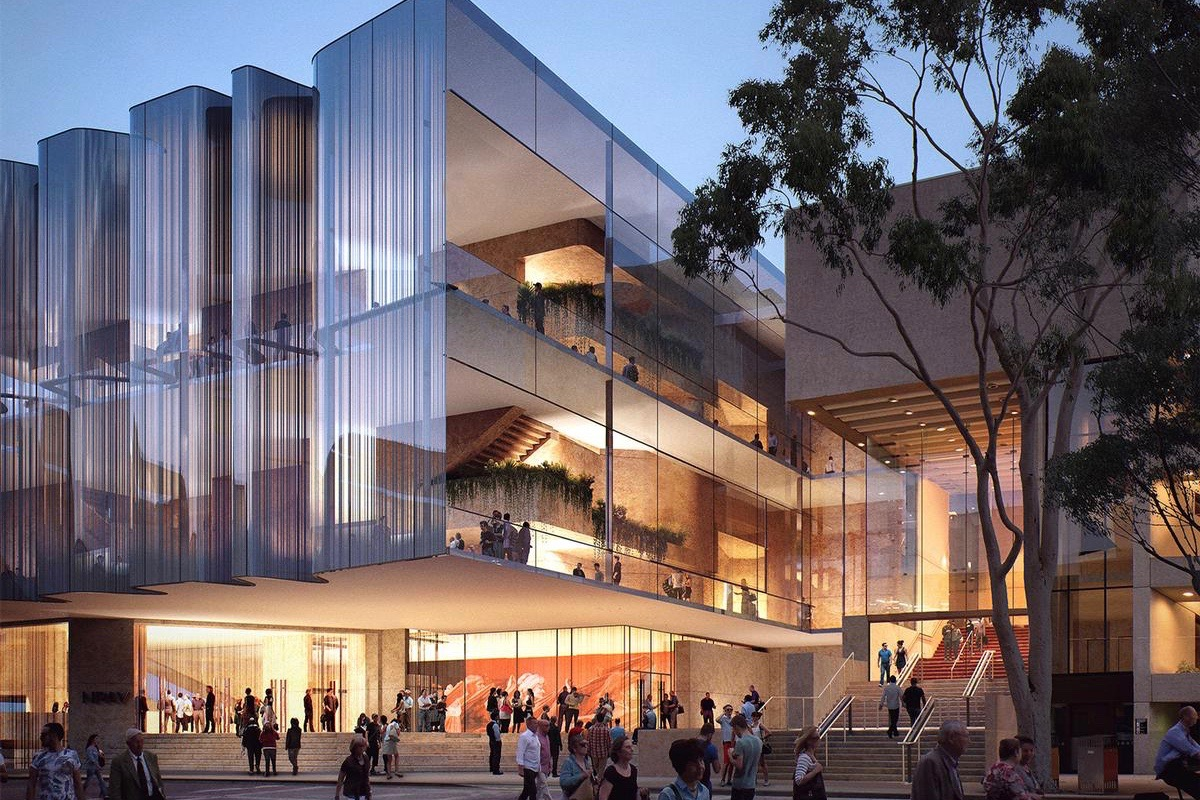 Queensland Performing Arts Centre (QPAC) in Brisbane, Australia – exterior CGI