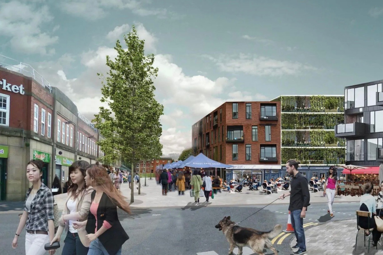 CGI of Bolton regeneration plans