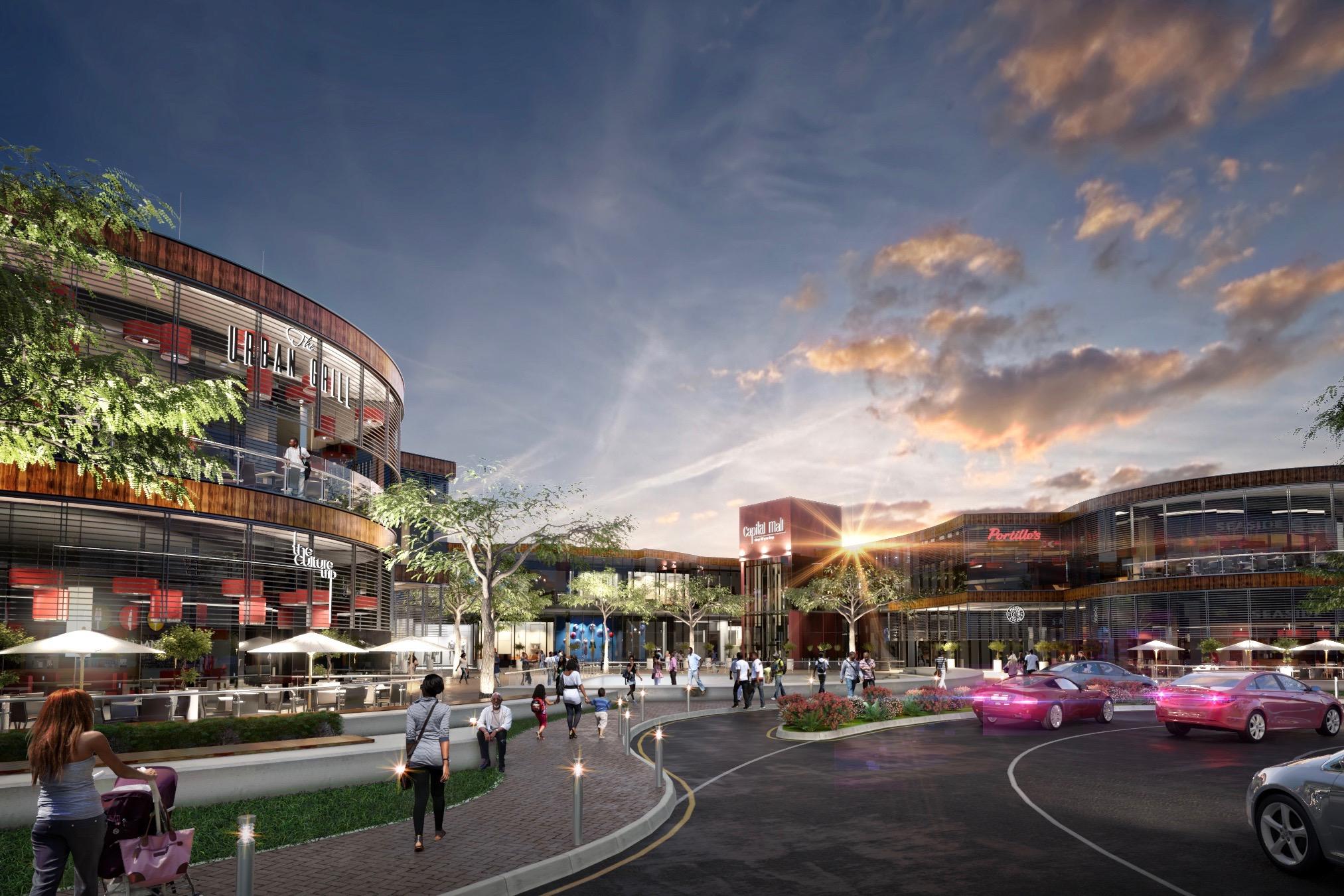Artist impression of proposed Capital Mall, Pretoria