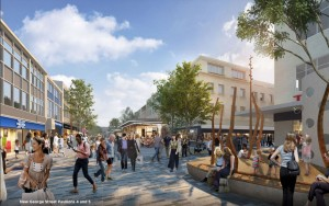 Artist impression of New George St Pavilions 4 and 5 in Plymouth