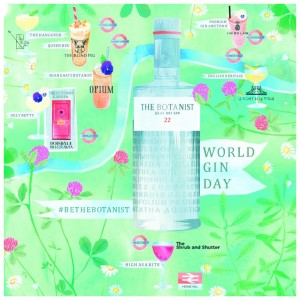 The Botanist's World Gin Day map