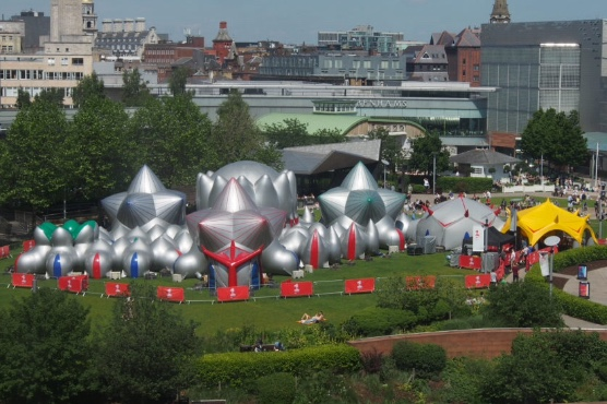 Dundee welcomes inflatable 'luminarium'.
