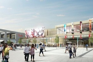 An artist's impression of the Westside development in Wolverhampton