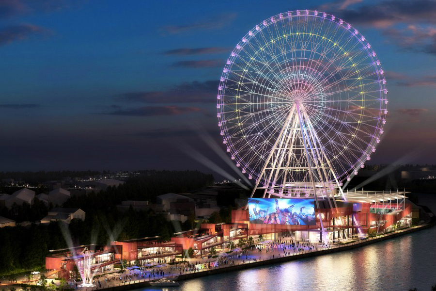 Planned 460 ft wheel on Newcastles Spillers Quay