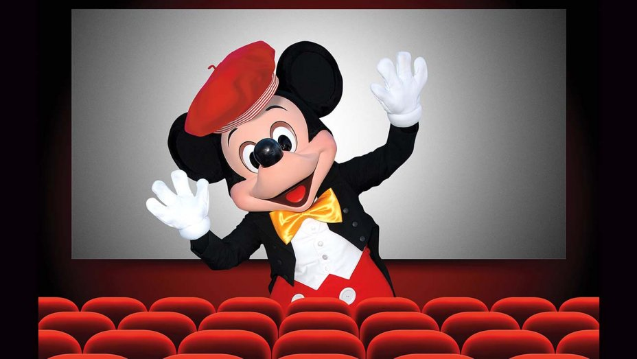 Mickey Mouse in front of a cinema screen: Steve Granitz/WireImage