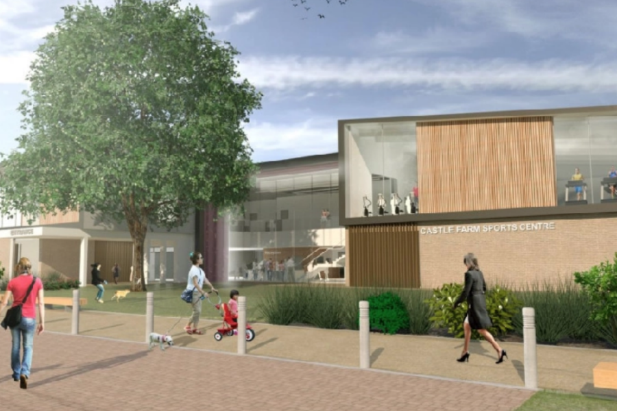 Artist impression of proposed Kenilworth leisure centre