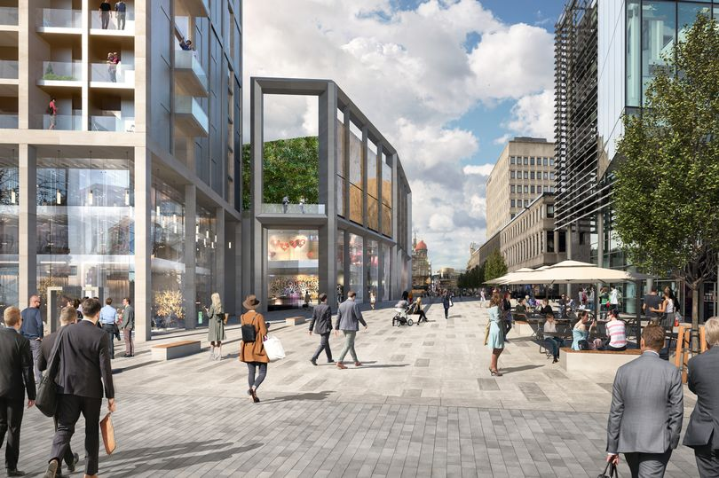 A CGI shows how the Northern Block of Pilgrim Street could be developed (Image- Ryder Architecture)