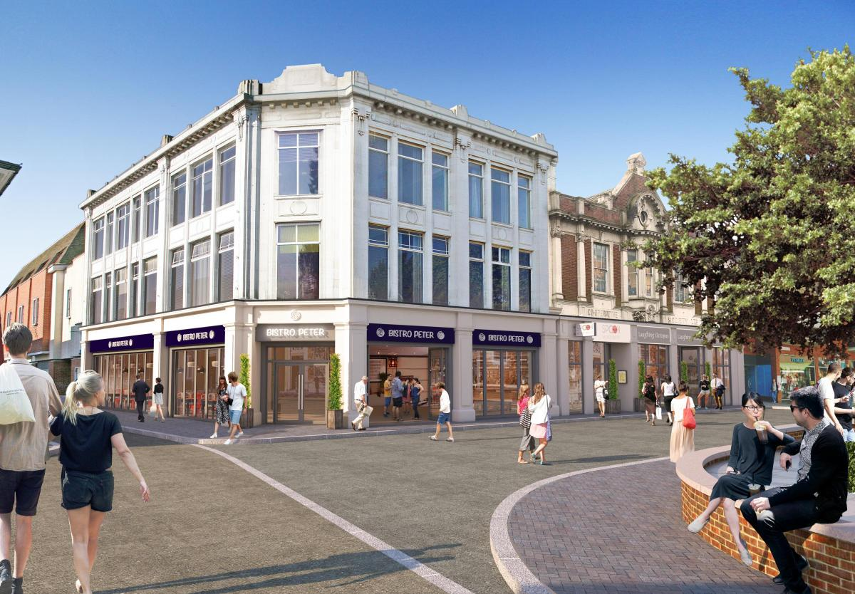 Artist impression of refurbished Co-op site, Colchester