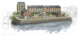 Artist impression of the Oliver Buildings development