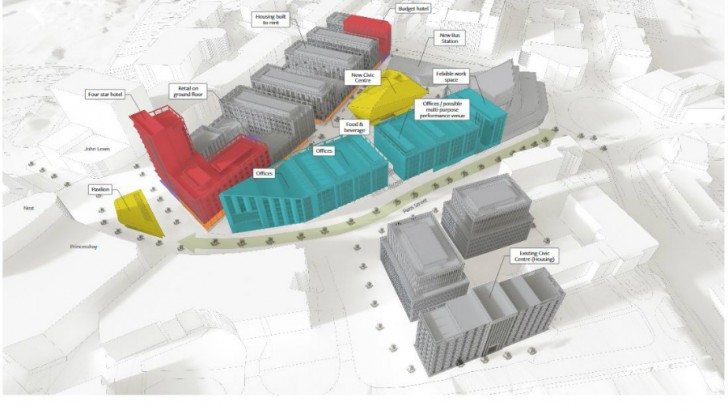 Exeter Councillors back £300m development with hotels, retail and dining