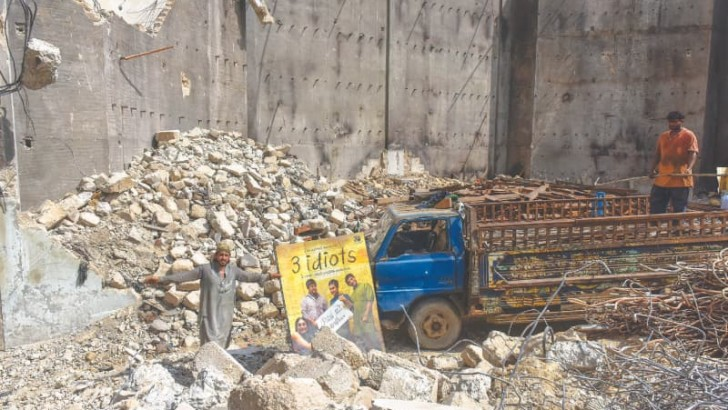 Destroyed Karachi landmark cinema makes way for 'economic hub'
