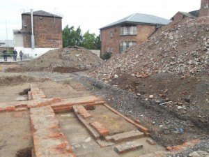 The Northallerton prison site during excavation work