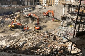 Demolition contractor Erith is tearing down the centre's car park as well as the main shopping centre itself