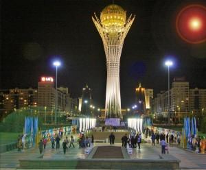 Night scene in Astana, Kyazakhstan