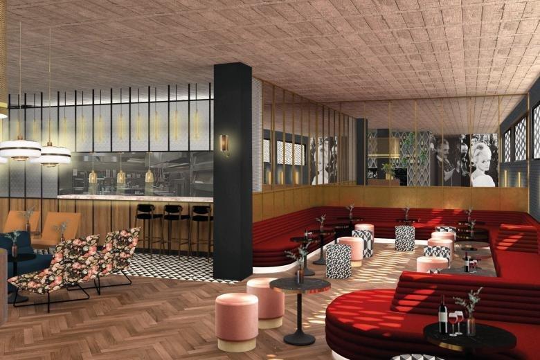 CGI of bar planned for Everyman Cinema, Quay Street Manchester