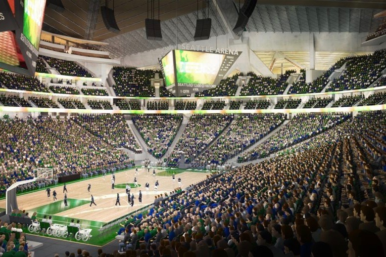 Oak View's largest international project is the redevelopment of KeyArena in Seattle, pictured, set to be home to the city's hockey team and touring muscial events