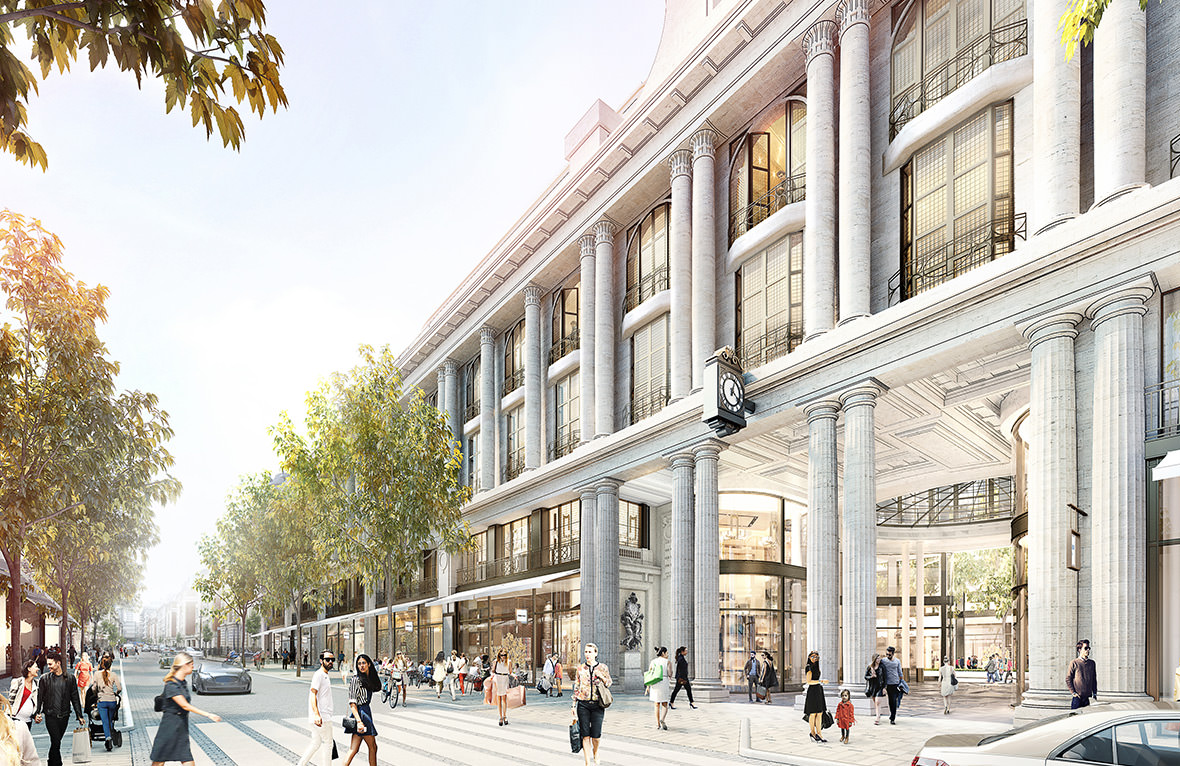 Artist impression of proposed redevelopment of Whiteleys Department Store