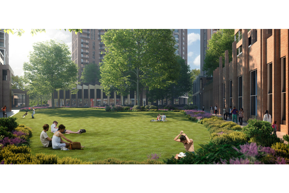 Artist impression of Southwark development