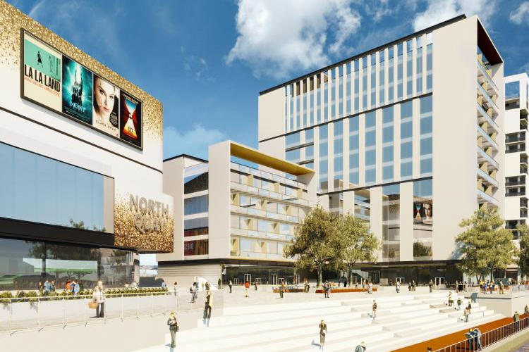 CGI of proposed Waterford North Quays development