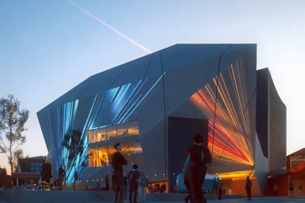 Manchester looks forward to its new arts complex – filmed in progress!