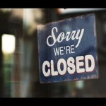 'sorry we're closed' sign