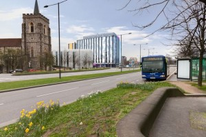 Artist impression of a design for the Old Library site (Image: Ashley Goodwin)