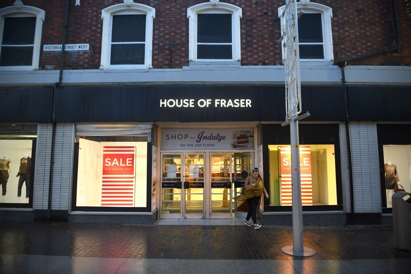 The House of Fraser store in Grimsby